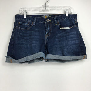 Lucky Brand 8/29 Shorts Denim Jean Cuffed Abby